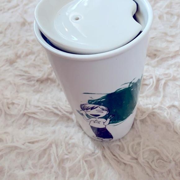 Finger painting boy starbucks mug